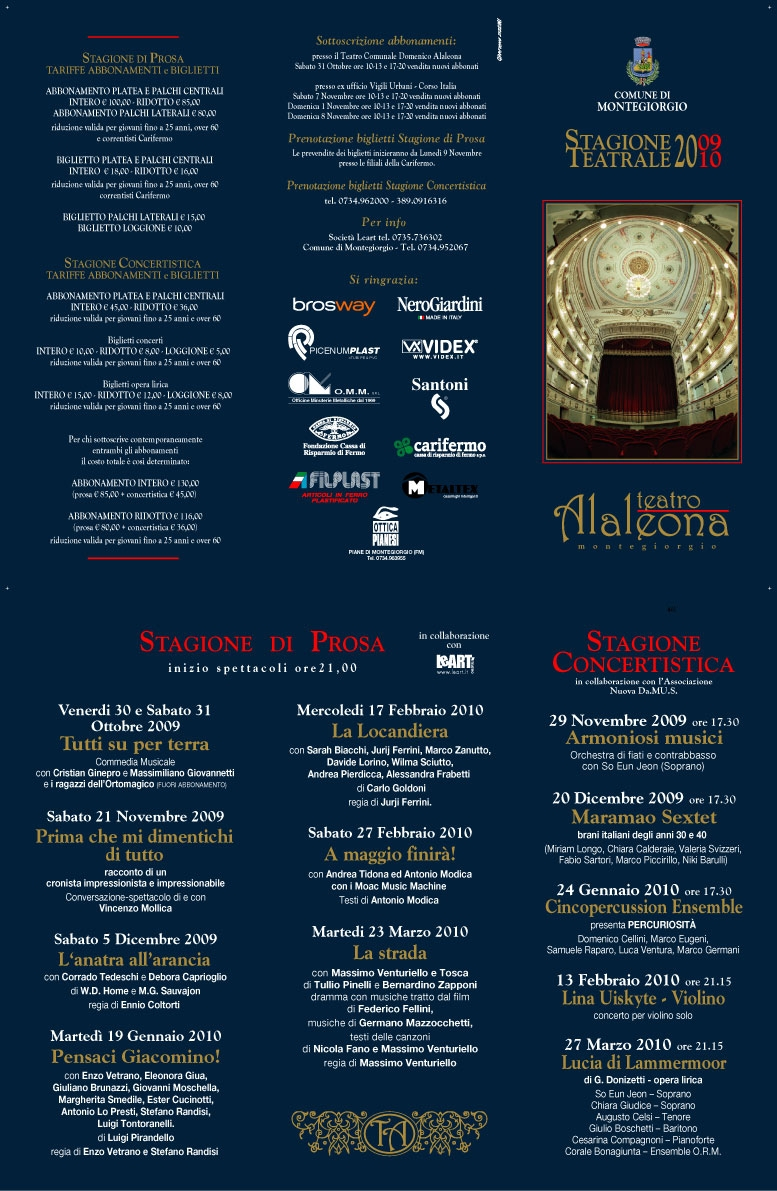 Stagione teatrale 2009 2010